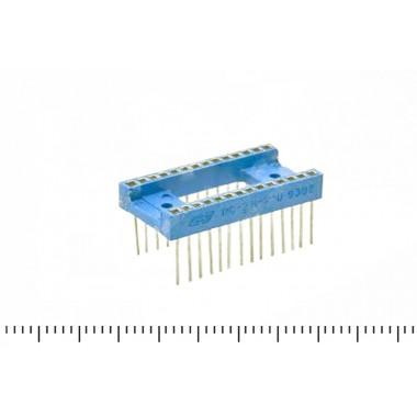 Панельки от микросхем сов. желтые, за 1 контакт