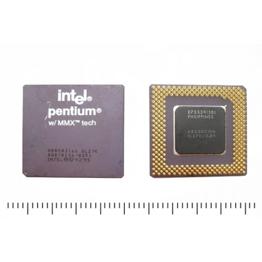 Pentium 1 с черной подложкой