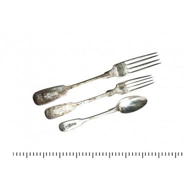 Изделия 875 пр, столовое серебро